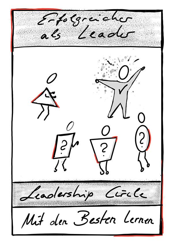 Zeichnung Erfolgreicher als Leader